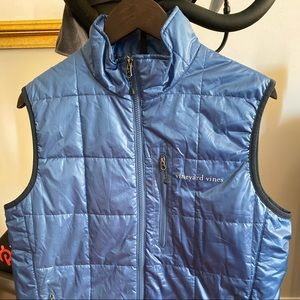 Vineyard Vines Blue Quilted Puffer Vest Small